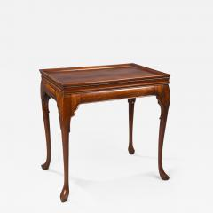 English or Irish Mahongany Tray Top Tea Table - 1806882