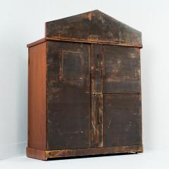 English two door mahogany server with pedimented back splash - 1714500