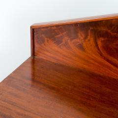 English two door mahogany server with pedimented back splash - 1714502