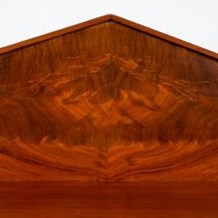 English two door mahogany server with pedimented back splash - 1714504