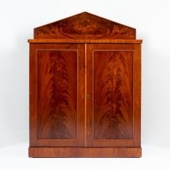 English two door mahogany server with pedimented back splash - 1714505