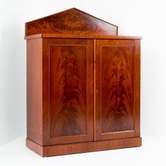 English two door mahogany server with pedimented back splash - 1714506