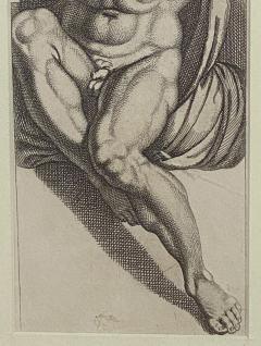 Engraving of An Atlas Figure Italy Circa 1600 - 1461438