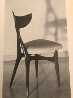 Ennio Canino Set of eight chairs MidCentury by Ennio Canino in white and blue Published 1954 - 1420790