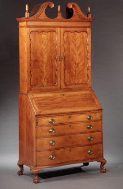Enoch Poor Chippendale Serpentine Front Secretary attributed to Enoch Poor - 477885