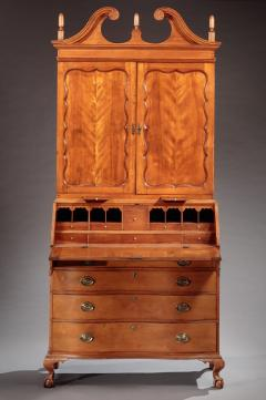 Enoch Poor Chippendale Serpentine Front Secretary attributed to Enoch Poor - 477887