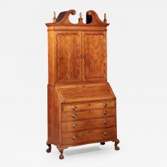 Enoch Poor Chippendale Serpentine Front Secretary attributed to Enoch Poor - 478346