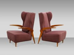 Enrico Ciuti Pair of Sculptural Lounge Chairs attributed to Enrico Ciuti - 1323174