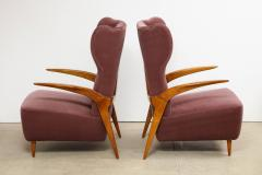 Enrico Ciuti Pair of Sculptural Lounge Chairs attributed to Enrico Ciuti - 1323175