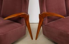 Enrico Ciuti Pair of Sculptural Lounge Chairs attributed to Enrico Ciuti - 1323176