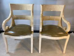 Enrique Garcel MODERN PAIR OF ENRIQUE GARCEL TESSALATED BONE ARMCHAIRS - 1420730