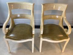 Enrique Garcel MODERN PAIR OF ENRIQUE GARCEL TESSALATED BONE ARMCHAIRS - 1420731