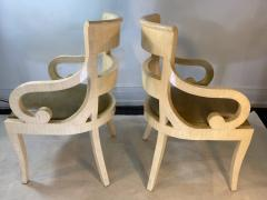 Enrique Garcel MODERN PAIR OF ENRIQUE GARCEL TESSALATED BONE ARMCHAIRS - 1420732