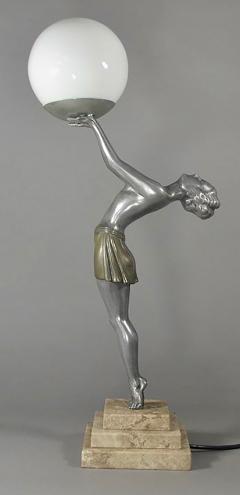 Enrique Molins Balleste French Art Deco Statue Lamp by Balleste - 424444