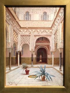 Enrique Roldan In the Courtyard the Alcazar of Seville - 1074200