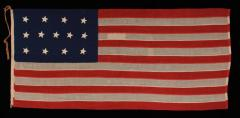 Entirely Hand Sewn 13 Star U S Navy Small Boat Ensign Flag - 639109