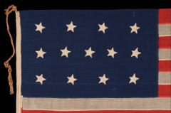Entirely Hand Sewn 13 Star U S Navy Small Boat Ensign Flag - 639110