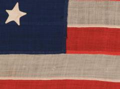 Entirely Hand Sewn 13 Star U S Navy Small Boat Ensign Flag - 639111