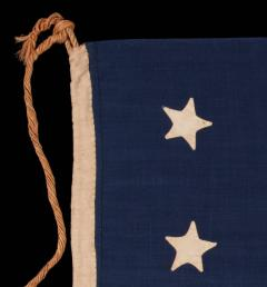 Entirely Hand Sewn 13 Star U S Navy Small Boat Ensign Flag - 639113