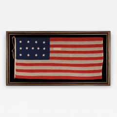 Entirely Hand Sewn 13 Star U S Navy Small Boat Ensign Flag - 639638