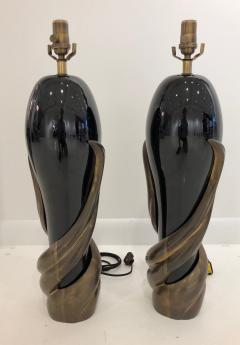 Enzo Missoni Pair of Bronze and Ceramic Lamps by Enzo Missoni - 1112197