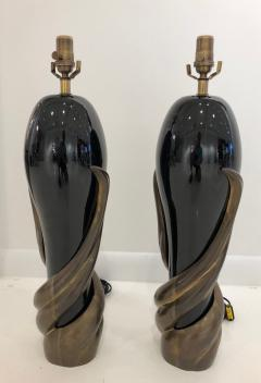 Enzo Missoni Pair of Bronze and Ceramic Lamps by Enzo Missoni - 1112198