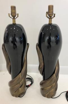 Enzo Missoni Pair of Bronze and Ceramic Lamps by Enzo Missoni - 1112202
