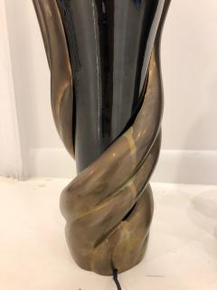 Enzo Missoni Pair of Bronze and Ceramic Lamps by Enzo Missoni - 1112203