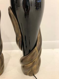 Enzo Missoni Pair of Bronze and Ceramic Lamps by Enzo Missoni - 1112204