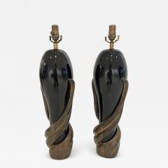 Enzo Missoni Pair of Bronze and Ceramic Lamps by Enzo Missoni - 1112565