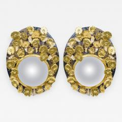 Enzo Missoni Pair of Mirrors with Rock Crystal - 732027