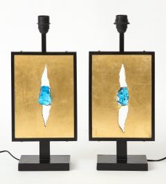 Enzo Missoni Pair of brutalist table lamps - 1196499