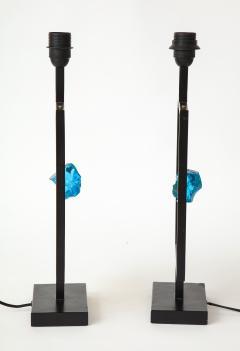 Enzo Missoni Pair of brutalist table lamps - 1196503