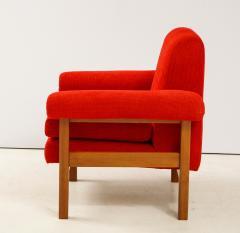 Erberto Carboni Pair of Oak Upholstered Armchairs by Erberto Carboni - 1812921