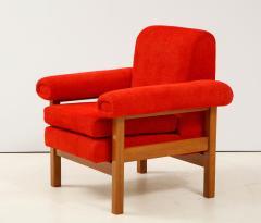 Erberto Carboni Pair of Oak Upholstered Armchairs by Erberto Carboni - 1812922