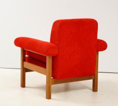 Erberto Carboni Pair of Oak Upholstered Armchairs by Erberto Carboni - 1812923