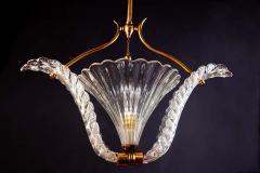 Ercole Barovier Art Deco Murano Glass Pendant by Ercole Barovier 1940 - 1744040