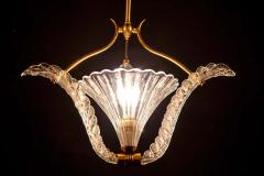 Ercole Barovier Art Deco Murano Glass Pendant by Ercole Barovier 1940 - 1744044