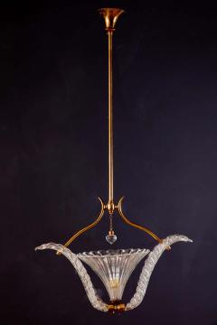Ercole Barovier Art Deco Murano Glass Pendant by Ercole Barovier 1940 - 1744047