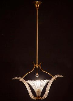 Ercole Barovier Art Deco Murano Glass Pendant by Ercole Barovier 1940 - 1744056