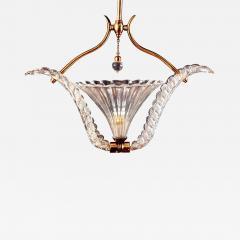Ercole Barovier Art Deco Murano Glass Pendant by Ercole Barovier 1940 - 1745440