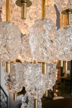 Ercole Barovier Barovier Diamant Brass and Textured Murano Glass Chandelier - 1498947