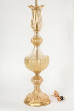 Ercole Barovier Barovier Gold Dust Inclusion Murano Glass Lamps - 897116