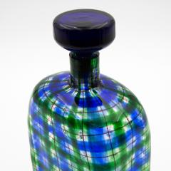 Ercole Barovier Barovier for Christian Dior Paris Tartan Murano Glass Bottle with Stopper - 831953