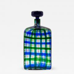 Ercole Barovier Barovier for Christian Dior Paris Tartan Murano Glass Bottle with Stopper - 832780