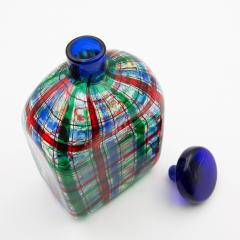 Ercole Barovier Barovier for Christian Dior Paris Tartan Murano Glass Bottle with Stopper - 831962