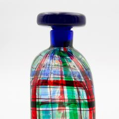Ercole Barovier Barovier for Christian Dior Paris Tartan Murano Glass Bottle with Stopper - 831964