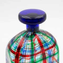 Ercole Barovier Barovier for Christian Dior Paris Tartan Murano Glass Bottle with Stopper - 831966