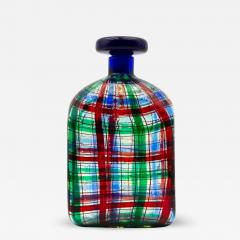 Ercole Barovier Barovier for Christian Dior Paris Tartan Murano Glass Bottle with Stopper - 832781