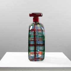 Ercole Barovier Barovier for Christian Dior Paris Tartan Murano Glass Bottle with Stopper - 1251934